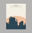 grand canyon arizona united states vintage style vector image