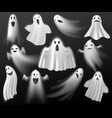 halloween ghosts scary creature white curtain vector image vector image
