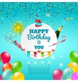Happy birthday celebration background poster vector image vector image