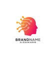 head tech logo colorful logo concept vector image vector image