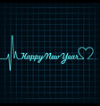 heartbeat make happy new year text vector image vector image