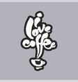 i love coffee white calligraphy lettering vector image vector image