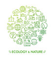 icon set ecology nature and zero waste vector image vector image