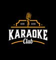 karaoke music club isolated on dark background vector image vector image