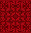 lace-de-luce lace of lilies red seamless pattern vector image vector image