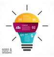 light bulb infographic Template for lamp vector image vector image