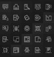 mobile application development outline vector image
