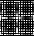 monochrome grid mesh with irregular lines vector image vector image