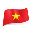 national flag of vietnam red background with vector image vector image
