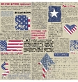 Newspaper with flag USA vector image vector image