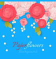 paper flower realistic style pink vector image vector image