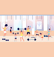 people in gym family training sports for adults vector image