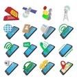 Phone cartoon icons vector image vector image