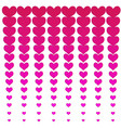 pink hearts background vector image vector image