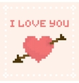 Pixel art I love you valentines day card