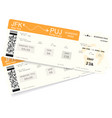 realistic variant of boarding pass ticket vector image
