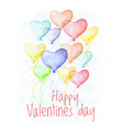 saint valentine s day hand drawn card vector image vector image
