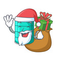 santa with gift cartoon water tank for in vector image vector image