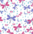 seamless pattern dragonflies vector image
