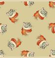 seamless pattern fashion portrait kitten boy vector image vector image