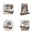 set of chocolate labels vector image