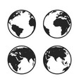 set of globe icon vector image vector image