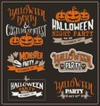 Set of Halloween typographic design vector image vector image