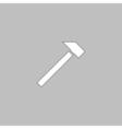 sledgehammer computer symbol vector image vector image