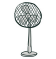 stand fan hand drawn on white background vector image