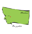 State of Montana vector image