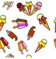 summer seamless pattern with ice cream vector image vector image