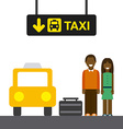 taxi stop vector image