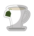 tea cup beverage isolated icon vector image vector image