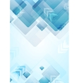 Tech geometric background with squares and arrows vector image vector image