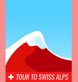 tour to swiss alps - banner vector image vector image