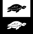 turtle silhouette vector image vector image