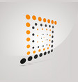 unusual logo of square with orange and dark gray vector image
