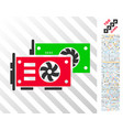 video graphics gpu cards flat icon with bonus vector image vector image
