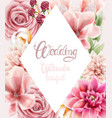 watercolor flowers and leaves bouquet vector image vector image