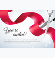 you are invited invitation card grand opening vector image