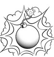 exploding bomb coloring book vector image