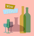 Wine list vector image