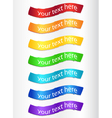 Set of color ribbons vector image