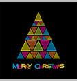 creative merry christmas tree vector image