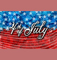 abstract american flag for independence day hand vector image