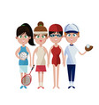 assorted sports people icon imag vector image vector image