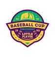 baseball kids championship vintage label vector image vector image