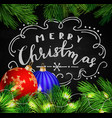 black chalkboard for christmas vector image