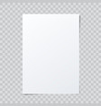 blank paper mockup on abstract checkered vector image vector image