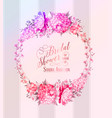blosoom flower wreath vector image